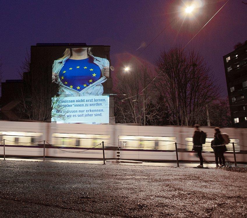 Aktion vor der Albisgüetli-Tagung der SVP: Für Besucher der Tagung Unübersehbar